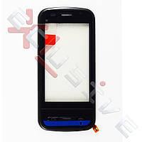 Сенсор (тачскрин) Nokia C6-00 чорний з рамкою (ORIGINAL)