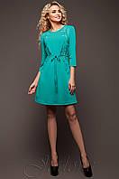 Женское бирюзовое платье-туника Силар  42-48 размеры Jadone