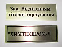 Таблички на металле