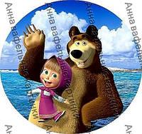 Вафельные картинки Маша и Медведь