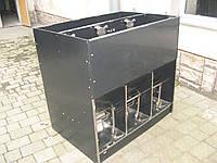 Кормушка для відгодівлі свиней з системою напування 60 голів