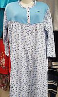 Байковая женская ночная рубашка №010 (большие размеры)
