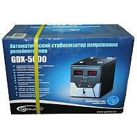 Стабилизатор Gemix GDX-5000 (3500W);цифровой,m=15,4кг(265x220x370mm)