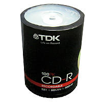 Диск CD-R  TDK 700Mb/80min 52x (cake  100)(Акция!!!)