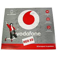 Стартовый пакет     Vodafone Red XS  50грн(абонплата 35грн.в месяц)