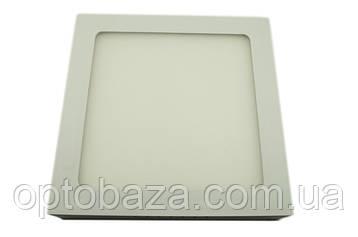 LED светильник Квадрат Пластик Накладной 18Вт 22,8см 3000К, фото 2