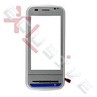 Сенсор (тачскрин) Nokia C6-00 білий з рамкою (ORIGINAL)