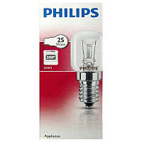 Лампочка  PHILIPS  T25 25W  E14CL  300* накал.жаростойкая