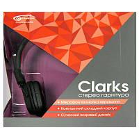 Наушники с микрофоном Gemix Clarks (черно-красные)для планшета