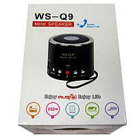 Портативная колонка Bluetooth WS-Q9  мини (аккумулятор.USB;microSD)