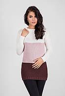Красивый теплый зимний свитер в стильном сочетании цветов