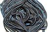 Кант текстильный (50м) черный+василек
