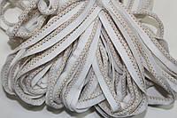 Кант текстильный (50м) белый+бежевый