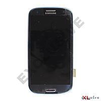 Дисплей Samsung I9300 Galaxy S3 с тачскрином, рамкой Blue