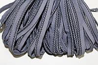 Кант текстильный (50м) серый+черный+люр.
