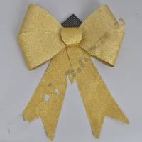 Бант с блестками Гигант золото, 44 х 37 см.
