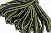 Кант текстильный (50м) черный+салатовый