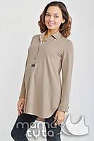 Блуза-платье Моника для беременных и кормления кофе с молоком