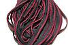 Кант текстильный (50м) черный+бордовый