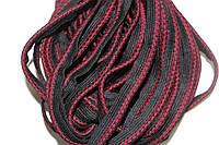 Кант текстильный (50м) черный+бордовый , фото 1