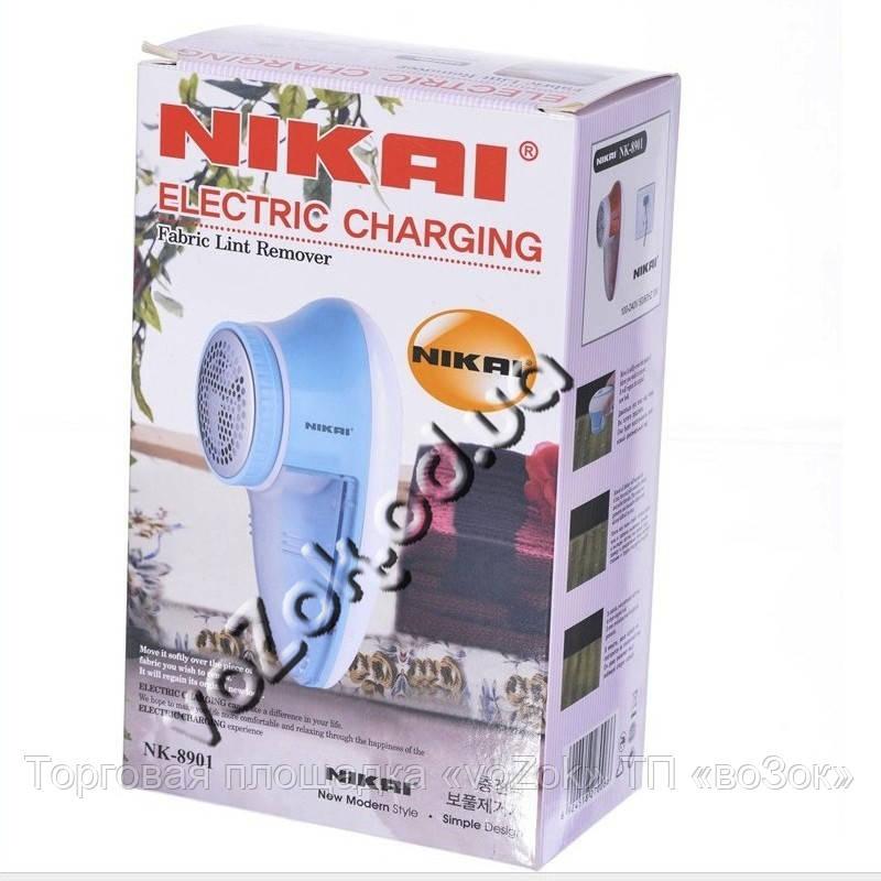 Аккумуляторная машинка для снятия катышек Fabric Lint Remover Nikai NK-8901 с запасными ножами