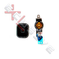 "Шлейф iPhone 5 з кнопкою ""МЕНЮ"" + пластикова кнопка (black)"