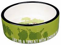 Миска керамическая Shaun the Sheep 0.8 л/ø16 см, зеленая