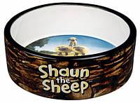 Миска керамическая Shaun the Sheep 0.3 л/ø12 см, коричневая
