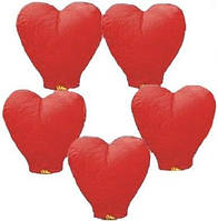 Небесный фонарик -сердце,разные цвета