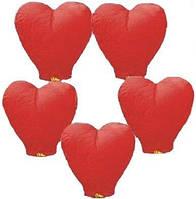 Небесный фонарик -сердце,разные цвета, фото 1