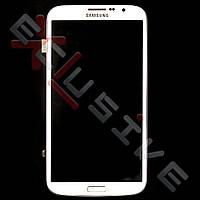 Дисплей Samsung I9200 Galaxy Mega с тачскрином, рамкой White