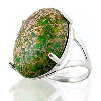 Варисцит зеленый, серебро 925, кольцо, 105КВ