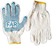 Перчатки трикотажные с нанесением ПВХ-точки FAR , вес 600 г