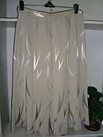 Женская юбка годе бежевого цвета ниже колен, фото 1