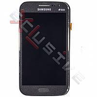 Дисплей Samsung I8552 Galaxy Win з сенсорним склом З РАМКОЮ ( СІРИЙ )