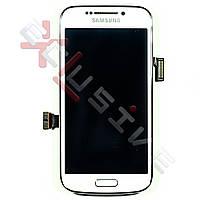 Дисплей Samsung C101 Galaxy S4 Zoom з сенсорним склом З РАМКОЮ ( БІЛИЙ )