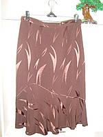 Женская юбка годе ниже колен коричневого цвета, фото 1