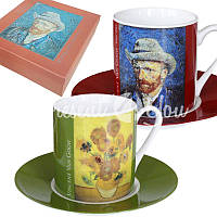 Кофейный набор «Винсент Ван Гог» : 2 чашки на 200 мл. с блюдцами