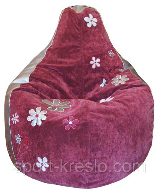 Кресло-мешок, груша пуф Ромашки бескаркасные пуфики