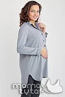 Блуза-платье Моника для беременных и кормления серый жемчуг