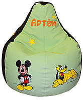 Бескаркасное детское кресло мешок груша пуф Микки Маус