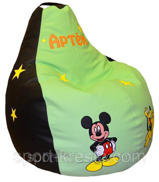 Бескаркасные пуфы, кресло мешок, груша пуфик Микки Маус