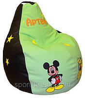 Бескаркасные пуфы, кресло мешок, груша пуфик Микки Маус, фото 1