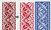 Перевод в вектор орнамента. Векторизация изображений, вышивки.