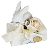 Подарочное натуральное мыло ручной роботы с овечьим молоком Австрия «Кролик» 100 гр. Florex