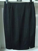 Женская классическая юбка до колен черного цвета, фото 1