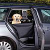 Подстилка автомобильная для собаки, с боковыми стенками, 65х145 см, черный/бежевый