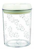 Контейнер для еды и лакомств, пластик, 1.5 л/ø12 х 17.5 см, белый