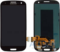 Дисплей (экран) для телефона Samsung Galaxy S3 I747, Galaxy S3 I9300, Galaxy S3 I9305, Galaxy S3 R530 + Touchscreen Original Black