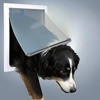 Дверца для собак, 2 функции,  30.8х38 см, пластик, белый.